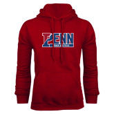 Cardinal Fleece Hood-Penn Track and Field