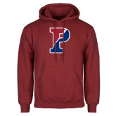 Cardinal Fleece Hoodie-Split P Distressed
