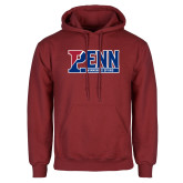 Cardinal Fleece Hoodie-Penn Swimming and Diving