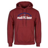 Cardinal Fleece Hoodie-Penn Football Stacked