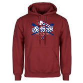 Cardinal Fleece Hoodie-Penn Softball Crossed Bats