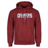 Cardinal Fleece Hoodie-Quakers Track and Field