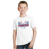 Youth White T Shirt-2020 Womens Track & Field Champs