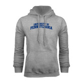 Grey Fleece Hood-University of Pennsylvania Arched