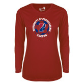Ladies Syntrel Performance Cardinal Longsleeve Shirt-Soccer Circle