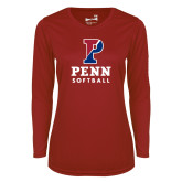 Ladies Syntrel Performance Cardinal Longsleeve Shirt-Softball