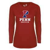 Ladies Syntrel Performance Cardinal Longsleeve Shirt-Soccer