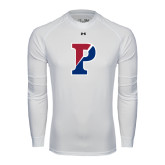 Under Armour White Long Sleeve Tech Tee-Split P