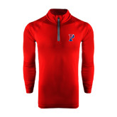 Under Armour Cardinal Tech 1/4 Zip Performance Shirt-Split P