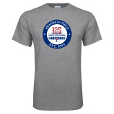 Grey T Shirt-Franklin Field 125 Logo