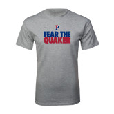 Sport Grey T Shirt-Fear The Quaker