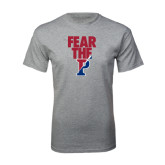 Grey T Shirt-Fear The P