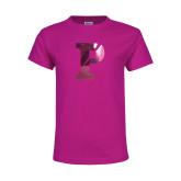 Youth Cyber Pink T Shirt-Split P Foil