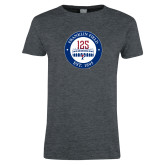 Ladies Dark Heather T Shirt-Franklin Field 125 Logo