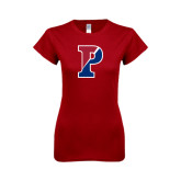 Next Level Ladies SoftStyle Junior Fitted Cardinal Tee-Split P