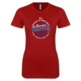 Next Level Ladies SoftStyle Junior Fitted Cardinal Tee-2018 Ivy League Mens Basketball