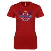 Next Level Ladies SoftStyle Junior Fitted Cardinal Tee-2018 Womens Lacrosse Championship