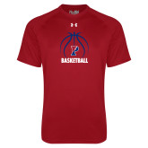 Under Armour Cardinal Tech Tee-Penn Basketball Under Ball