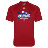 Under Armour Cardinal Tech Tee-Penn Softball Crossed Bats