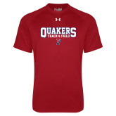 Under Armour Cardinal Tech Tee-Quakers Track and Field