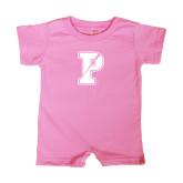 Bubble Gum Pink Infant Romper-Split P