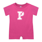 Bubble Gum Pink Infant Romper-Split P