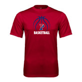 Syntrel Performance Cardinal Tee-Penn Basketball Stacked w/ Ball