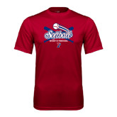 Syntrel Performance Cardinal Tee-Softball w/ Crossed Bats