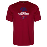Performance Cardinal Tee-Penn Football Vertical