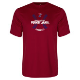 Performance Cardinal Tee-Pennsylvania Baseball Seams