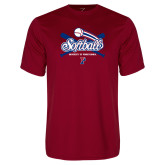 Syntrel Performance Cardinal Tee-Penn Softball Crossed Bats