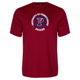 Performance Cardinal Tee-Soccer Circle
