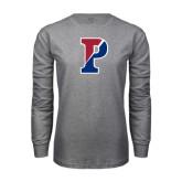 Grey Long Sleeve T Shirt-Split P