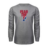 Grey Long Sleeve T Shirt-Fear The P