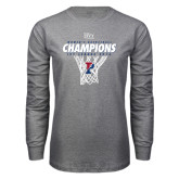 Grey Long Sleeve T Shirt-2016 Ivy League Womens Basketball Champions