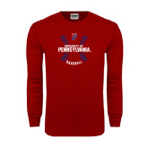 Cardinal Long Sleeve T Shirt-Pennsylvania Baseball Seams