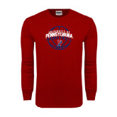 Cardinal Long Sleeve T Shirt-Pennsylvania Basketball in Ball