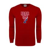 Cardinal Long Sleeve T Shirt-Fear The P