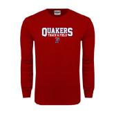 Cardinal Long Sleeve T Shirt-Quakers Track & Field
