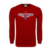 Cardinal Long Sleeve T Shirt-Track & Field Front View Shoe
