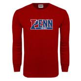 Cardinal Long Sleeve T Shirt-Penn Football