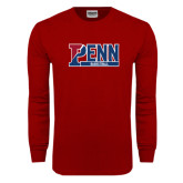 Cardinal Long Sleeve T Shirt-Penn Basketball