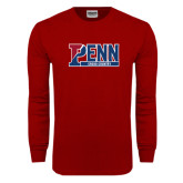 Cardinal Long Sleeve T Shirt-Penn Cross Country