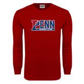 Cardinal Long Sleeve T Shirt-Penn Swimming & Diving