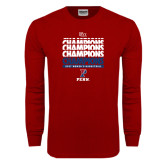 Cardinal Long Sleeve T Shirt-2017 Ivy League Womens Basketball Champions