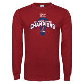 Cardinal Long Sleeve T Shirt-2017 Ivy League Womens Lacrosse Champions