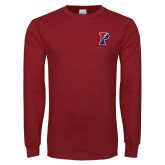 Cardinal Long Sleeve T Shirt-Split P
