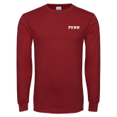 Cardinal Long Sleeve T Shirt-PENN