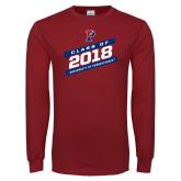 Cardinal Long Sleeve T Shirt-Penn Grad 2018
