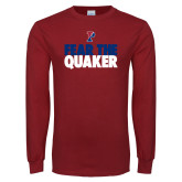 Cardinal Long Sleeve T Shirt-Fear The Quaker